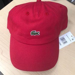 Lacoste men's hat / cap red color